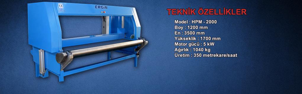 MODEL : HPM 2000 - BOY 1200 - EN -3500